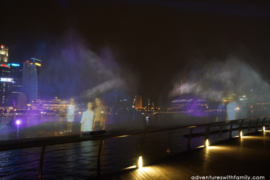 marina bay sands light and water show adventures with family
