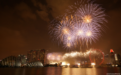 Singapore's Largest Display of Fireworks at NDP 2015