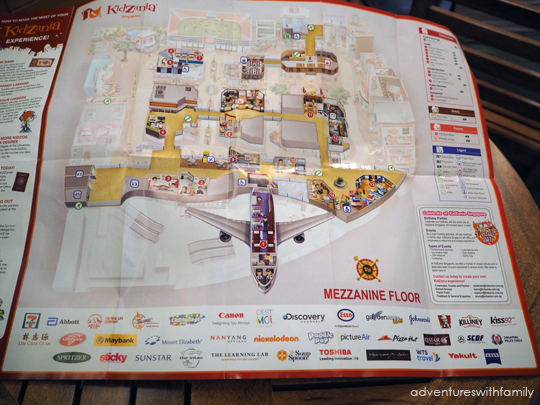 Kidzania Map