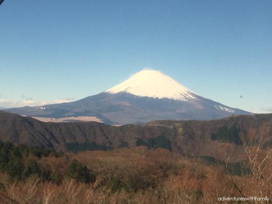 Mt Fuji view from Hakone in Winter
