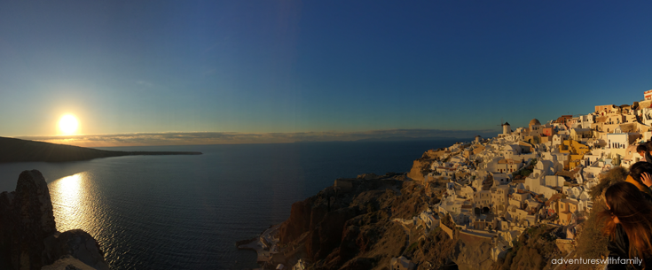 Oia Sunset Santorini in Winter