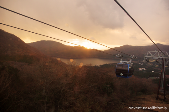 Hakone in Winter Ropeway Sunset