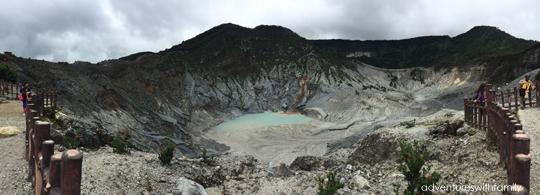 Bandung volcanic crater