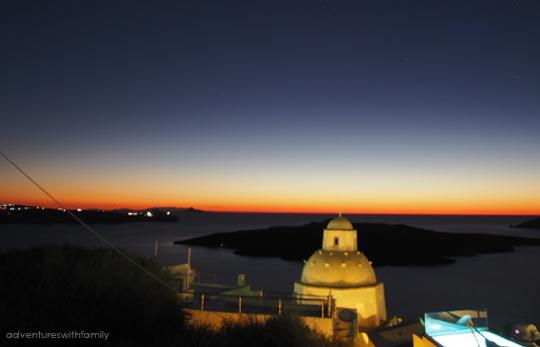 Fira Sunset Santorini in Winter