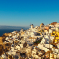 Santorini in winter, Greece